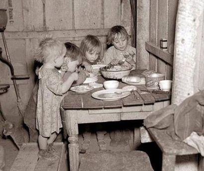 La Cena di Natale durante la Grande Depressione