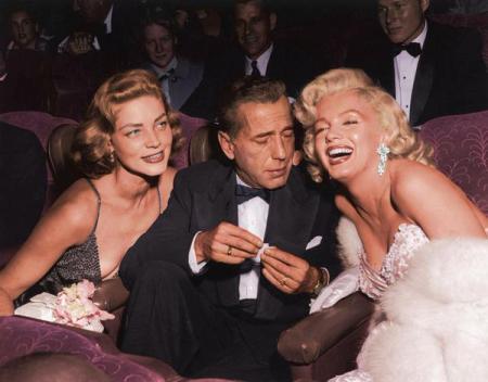Lauren Bacall, Humphrey Bogart e Marilyn Monroe