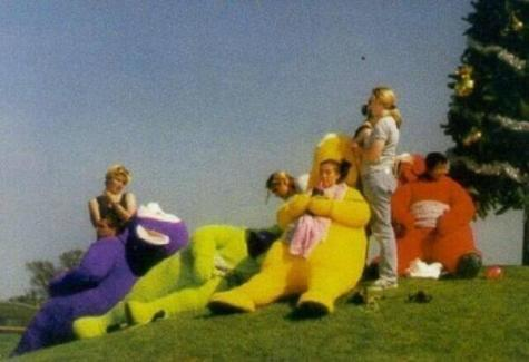 Pausa sul the set dei Teletubbies