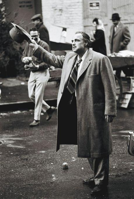 """Marlon Brando sul set de """"Il Padrino"""" 1971"""
