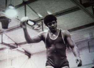 Neil deGrasse Tyson quando era un wrestler, 1970 circa