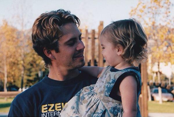 Paul Walker con la figlia, Meadow