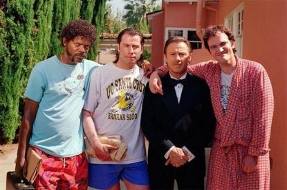 Una foto dal set di Pulp Fiction