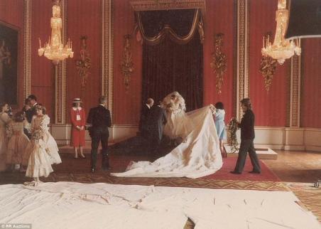 La principessa Diana il giorno delle nozze