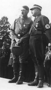 Norimberga, il partito nazista, Hitler e Röhm, 1933.