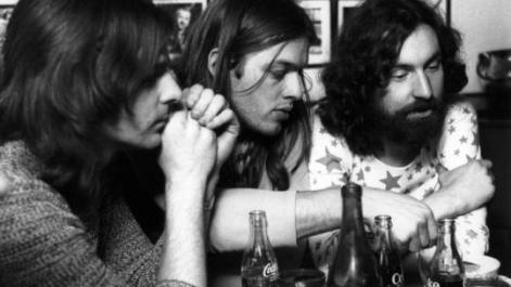 Rick Wright, David Gilmour e Nick Mason 1970