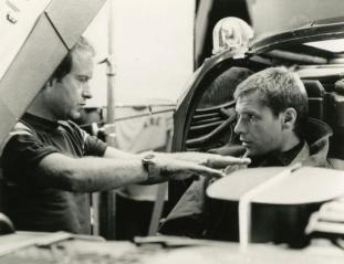 Ridley Scott e Harrison Ford sul set di Blade Runner (1982)