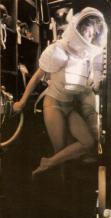 Sigourney Weaver sul set di Alien