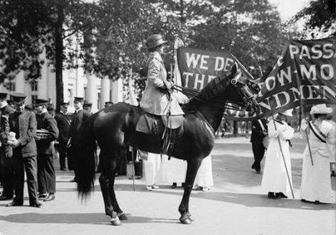 Suffrage parade, Washington DC, Maggio 1914