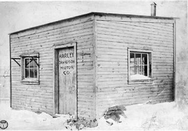 Il capannone in legno di 10 x 15 piedi in cui 'Harley-Davidson Motor Company' ha iniziato nel 1903