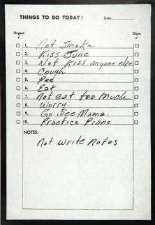 To do list di Johnny Cash