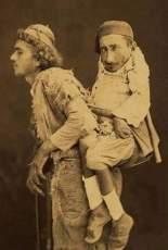 Un cieco che porta un uomo paraplegico in spalla,, Damasco 1889