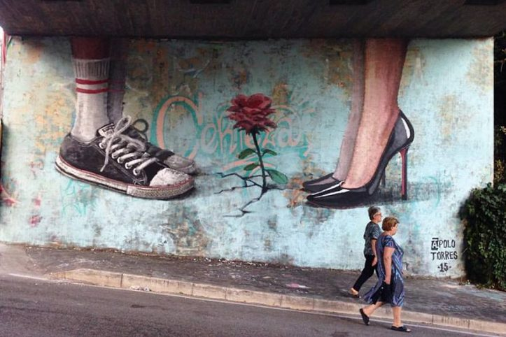 Opera dello street artist brasiliano Apolo Torres per il festival Memorie Urbane di Formia (Italia)