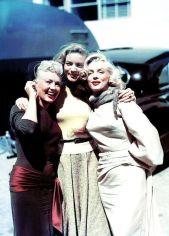 Betty Grable, Lauren Bacall e Marilyn Monroe, 1953