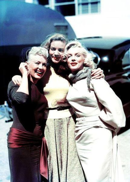 Betty Grable, Lauren Bacall e Marilyn Monroe, 1953