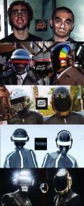 Evoluzione dei caschi dei Daft Punk