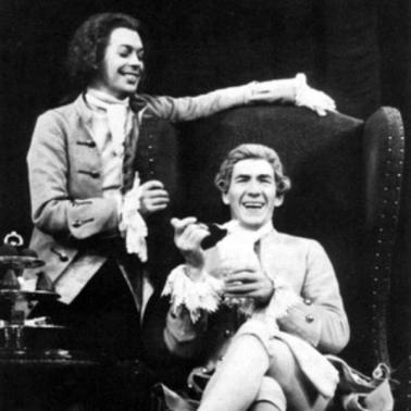 Ian McKellen e Tim Curry in 'Amadeus' a Broadway 1980