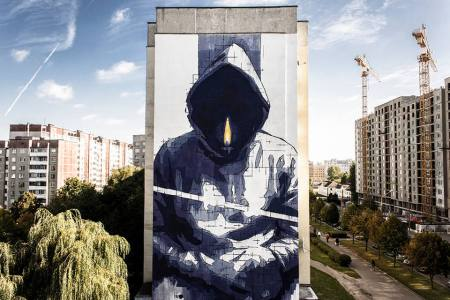 """Man With No Name"" by iNO (Minsk 2015)"