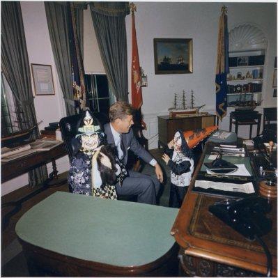John F. Kennedy, Halloween alla Casa Bianca con i suoi figli, 1963