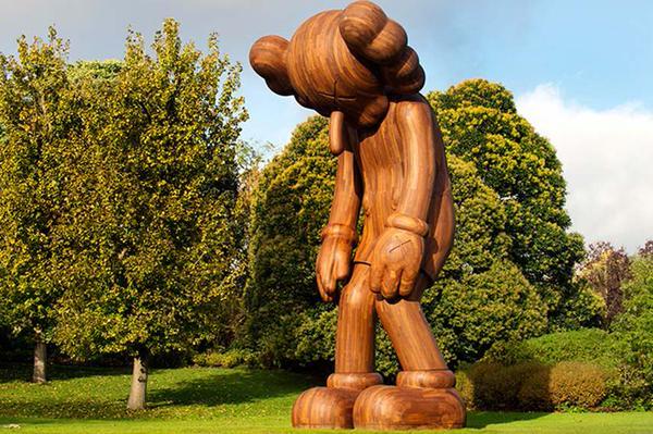 KAWS – Small Lie, Frieze Sculpture Park, 2014. Photo via blog.cobosocial.com