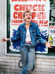 Madonna, un anno prima dell'uscita del suo primo album, 1982. Fotografia di Richard Corman