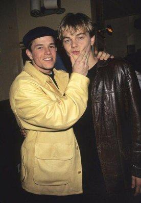 Mark Wahlberg e Leonardo DiCaprio negli anni '90