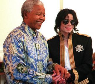 Michael Jackson e Nelson Mandela