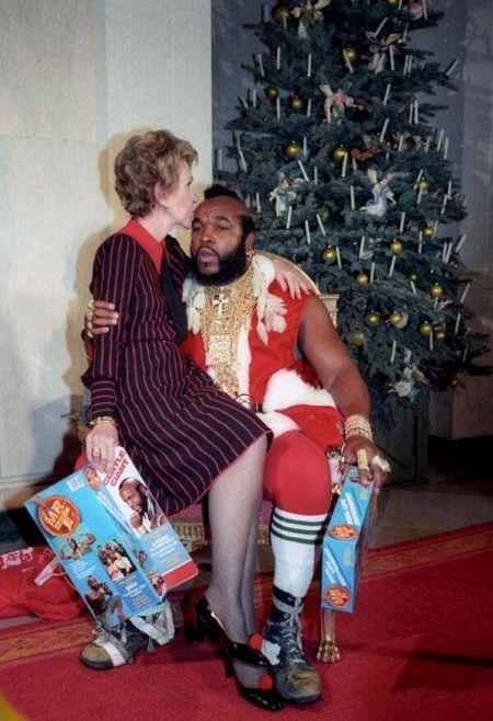 Nancy Regan e Mr T