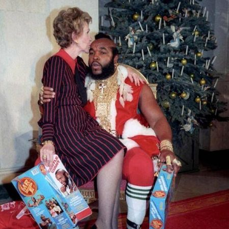 Nancy Regan e Mr T