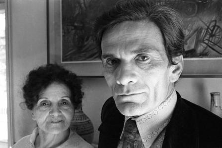 Pier Paolo Pasolini e sua madre Susanna, 1971. Foto di Sandro Becchetti,