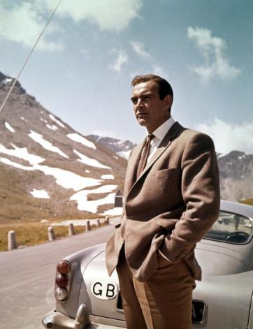 Sean Connery sul set di Goldfinger circa 1964
