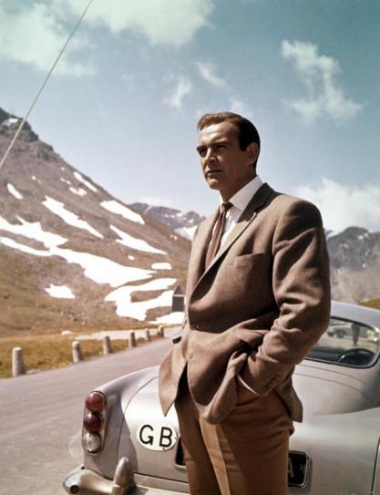 Sean Connery sul set di Goldfinger circa 1964