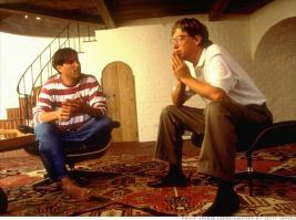 Steve Jobs e Bill Gates discutono il futuro del PC. Palo Alto casa Jobs, 1991