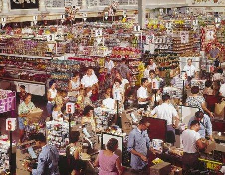 Supermarket in Rockville, Maryland, 1964