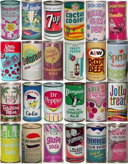 Lattine di soda vintage