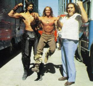 Wilt Chamberlain, Arnold Schwarzenegger, Andre the Giant