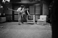 David Lynch relaxing on the set of BLUE VELVET (photo credit Peter Braatz).