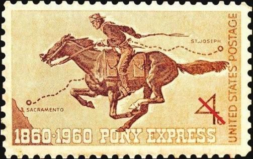 Nonostante sia sinonimo di vecchio West, il servizio di recapito della posta Pony Express è rimasto in funzione solo per 19 mesi