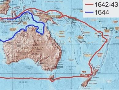 L'esploratore olandese Abel Tasman Janszoon ha 'scoperto' la Nuova Zelanda, la Tasmania e le Fiji nella sua prima spedizione. Per qualche ragione, ha mancato la grande massa di terra chiamata Australia