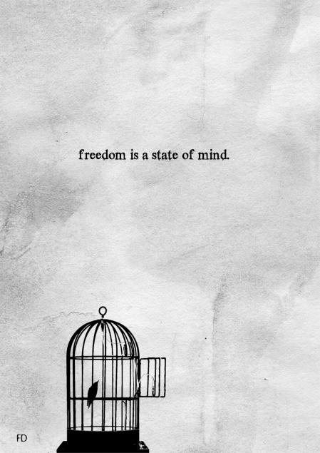 Freedom is a state of mind - Illustrazione di Fariedesign