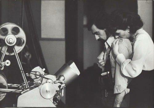 """Martin Scorsese e Liza Minelli sul set di """"New York, New York"""" (1977)"""