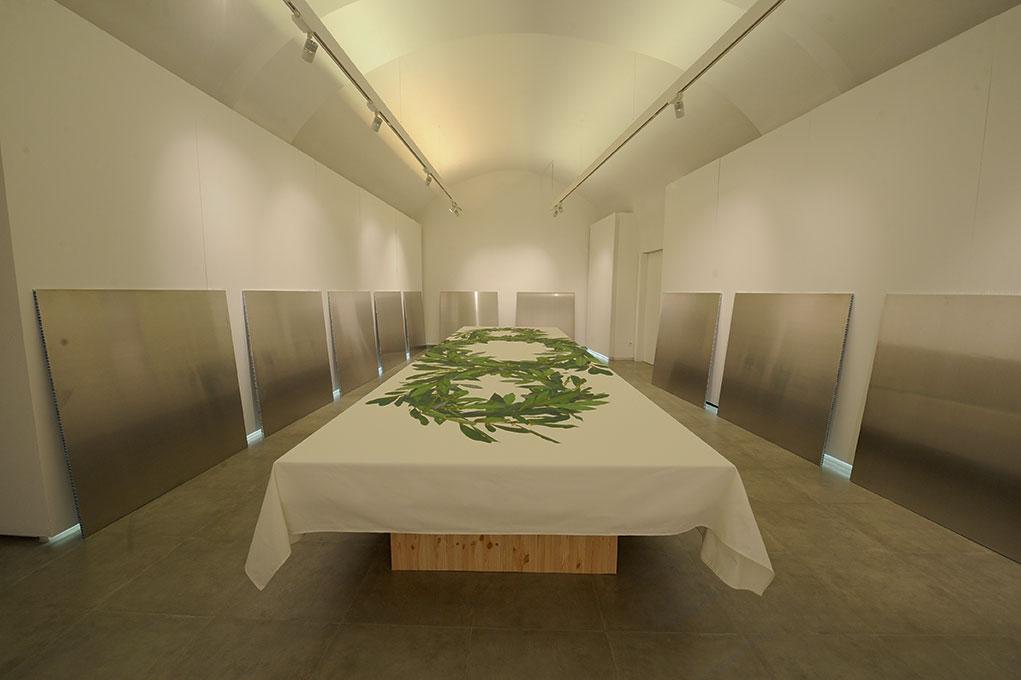 Michelangelo Pistoletto - I ritratti al tavolo del Terzo Paradiso