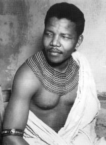 Nelson Mandela da giovane