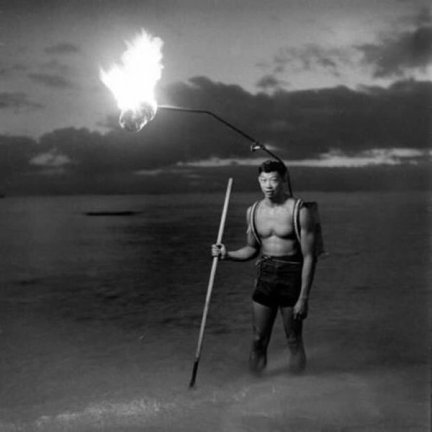 Pesca notturna alle Hawaii, 1948