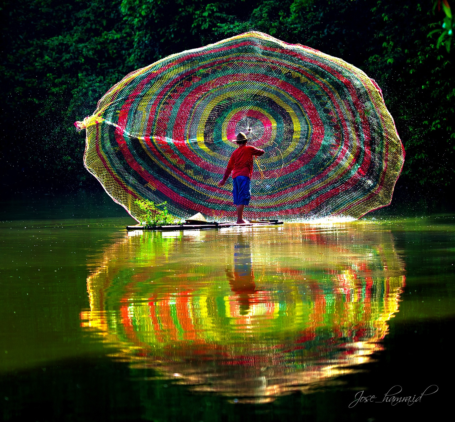 Rainbow Fishing Net by Jose Hamra
