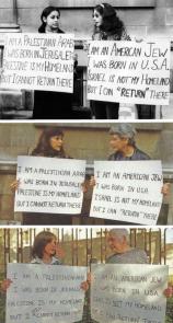 Una donna ebrea e una palestinese protestano insieme nel 1973, 1992 e nel 2001