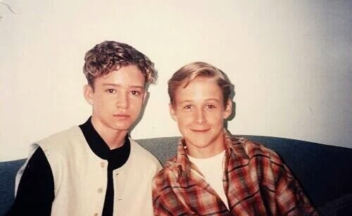 Un giovane Justin Timberlake con Ryan Gosling, 1994