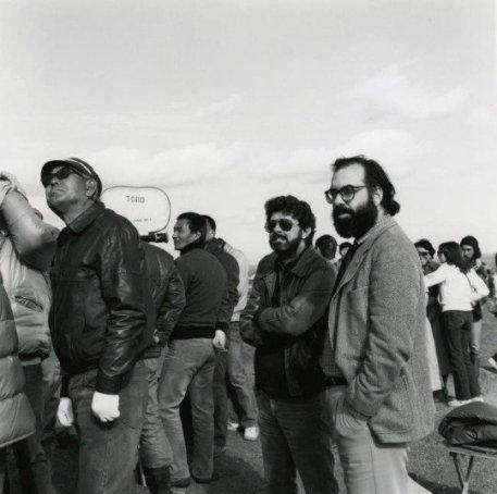 Akira Kurosawa, Francis Ford Coppola e George Lucas sul set di 'Kagemusha'