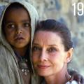 Audrey Hepburn in Africa in aiuto dei bambini bisognosi