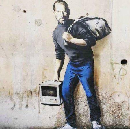 Banksy - Steve Jobs @ Calais (Francia)
